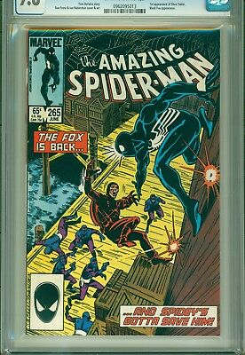 CGC 9.8-AMAZING SPIDER-MAN #265(6/85)1:SILVER SABLE(UPCOMING MOVIE w/BLACK CAT)!