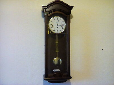 Billib mechanical wall clock Westminster Chimes With Key. beautiful condition.