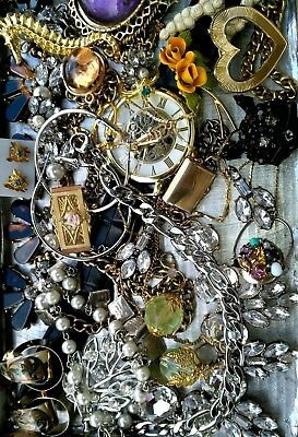 Huge Vintage & Now Jewelry Lot Estate Find Junk Drawer UNSEARCHED UNTESTED#1213*
