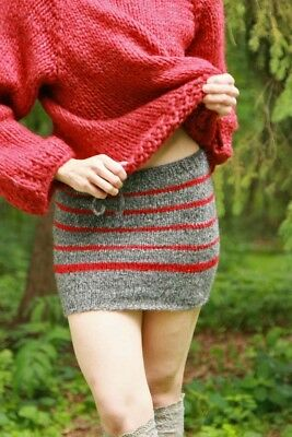 BIG THICK WOOL SWEATER with a LITTLE KNIT MINISKIRT
