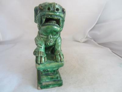 19Th Century? Chinese Green Glazed Buddhist Temple Lion