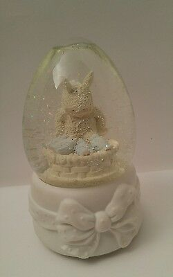 Dept 56 Snowbunnies Is There Room For Me Snowbaby Music Water Globe