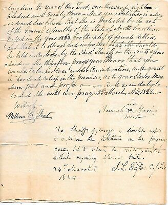 1st Ch. Justice No. Car. grants poor woman's petition 1828