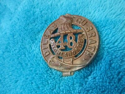 WW1 TO WW11 48th HIGHLANDERS  BUCKLE BADGE
