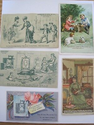 Victorian SEWING TRADE CARDS New Home  Lot 5