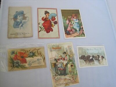 Victorian TRADE CARDS Singer Sewing Medicine Standard Lot 6