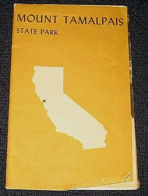 Vintage 1970s Mount Tamalpais State Park California Brochure Map Marin County