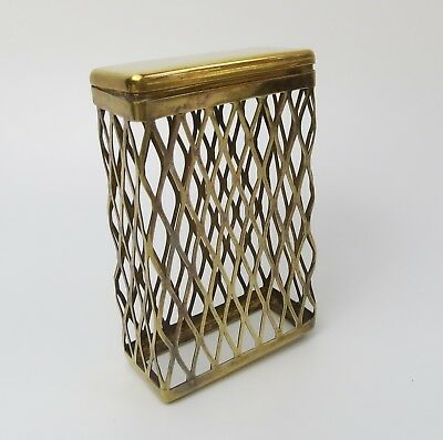 Albert Cohen & Co gold vermeil English sterling silver 1961 cigarette box holder