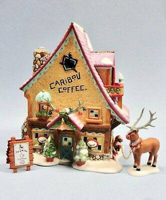 Dept 56 North Pole - Caribou Coffee Shop 56736 Set 3 Brand New Sealed In Plastic