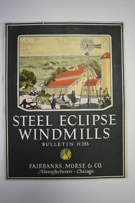 Vintage Fairbanks Morse & Co Steel Eclipse Windmills Bulletin H283
