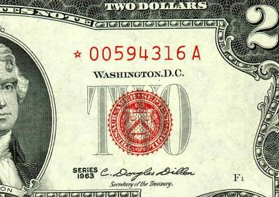 ** STAR ** $2 1963 United States Note  ** MORE CURRENCY FOR SALE **