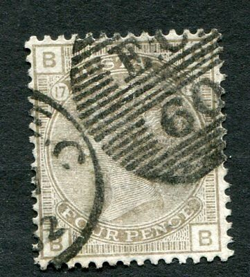 Stamp Lot Of Great Britain, Scott #84 Plate 17 ($67.50)