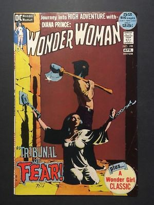 Wonder Woman #199 (Mar-Apr 1972, DC) EARLY BRONZE AGE ICONIC BONDAGE COVER