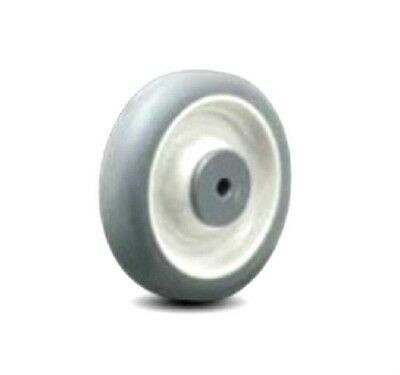 "Scrubber Machine Soft Rubber Non Marking Replacement Wheel 6"" x 1-1/4"" x 3/8"" ID"