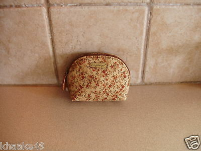 Longaberger Fall Vintage Floral Coin Purse Attached Key Ring Nip * Free Shipping