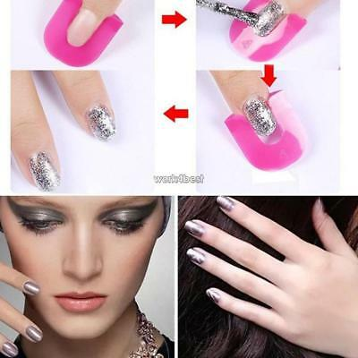 26PCS Finger Nail Tips Polish Cover Shield Spill Proof Manicure Protector WST