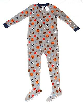 Boys Carters Fleece Footed pajama Blanket Sleeper 8 10 12 14 Sports Allstar NWT