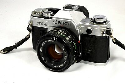 Canon AT-1 35mm Camera With A 50mm f/1.8 FD Lens - Very Good