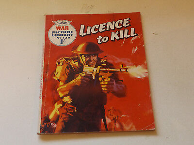 WAR PICTURE LIBRARY NO 128!,dated 1961!,GOOD for age,great 57!YEAR OLD issue.