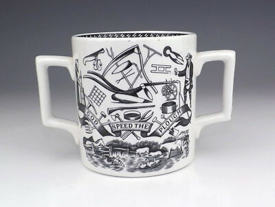 Vintage Staffordshire Pottery - Farmers Arms Commemorative Loving Cup - Lovely!