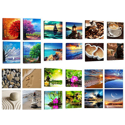 4x Modern Large Canvas Painting Picture Wall Art Poster Home Decor Unframed