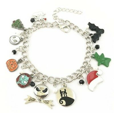 Nightmare Before Christmas Characters Oogie Boogie Charms Bracelet Gift Bag Box