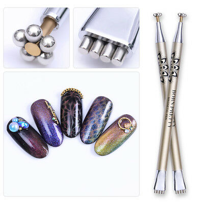 BORN PRETTY Dual-ended Cat Eye Magnetic Stick Flower Strip Pattern Nail Art Tool