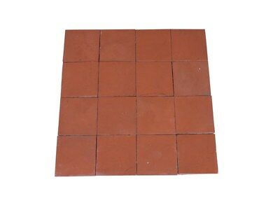 "Reclaimed Terracotta Quarry Floor Tiles 6 1/8"" x 6 1/8"" - Quarries Flooring"