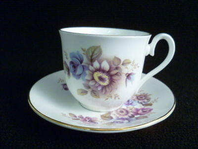 Royal Sutherland Floral Tea Cups And Saucers