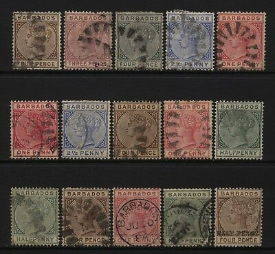 Barbados Collection 15 QV Values Used