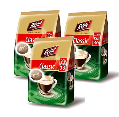 Philips Senseo 108 x Cafe Rene Cremé Regular Roast Coffee Pads 3 x Bags