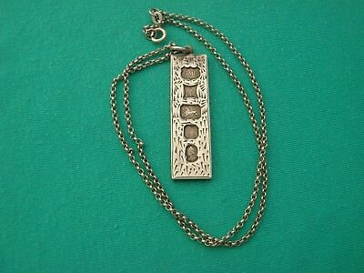 SOLID STERLING ENGLISH HALLMARKED SILVER INGOT & A  SOLID SILVER CHAIN 21.4grams