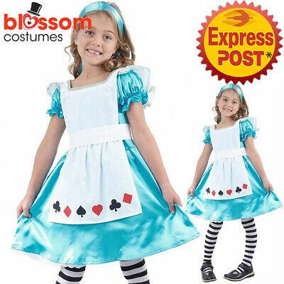 CSW35 Alice in Wonderland Book Week Fancy Party Dress Girls Kids Costume Outfit