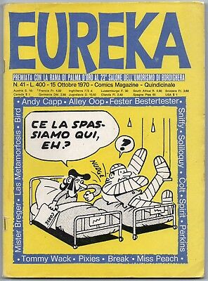EUREKA N.41 editoriale corno 1970 the watcher don martin alley oop spirit tidy