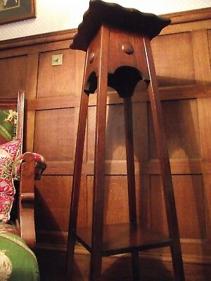 Arts and Crafts Table - Antique Side Table - Antique Lamp Table