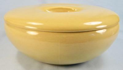 Casual Avocado Yellow 2 Quart Covered Casserole Bowl Iroquois Russel Wright (O2)