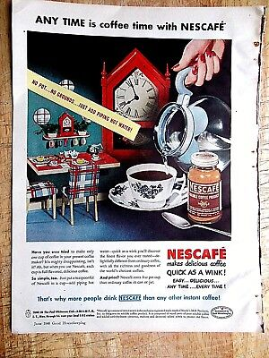 1948 Nestle Nescafe Coffee vintage print Ad
