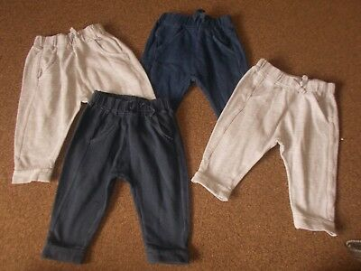 baby boys bundle of 4 pairs of NEXT joggers   9-12 months very good conditon