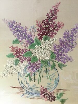 Vintage Framed Embroidery Picture