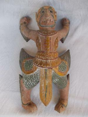 254 / A 17Th / 18Th Century South East Asian Hand Carved Wooden Mythical Figure
