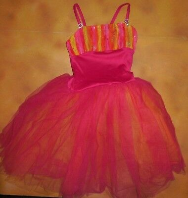 NWOT Multi-color Pink Yellow European Length Ballet Costume Child Sizes