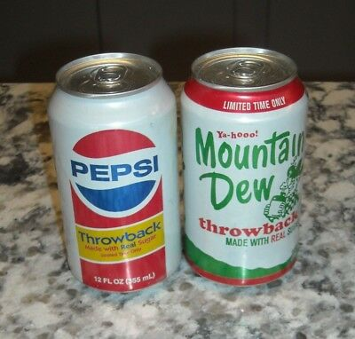 Pepsi & Mtn Dew Mountain Dew Cans THROWBACK  2010