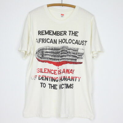Remember The African Holocaust Shirt Vintage shirt 1980s Africa Slavery Maafa