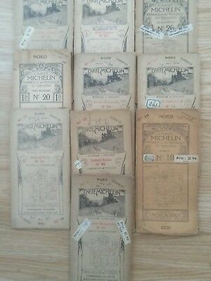 Early French Michelin maps joblot approx 1922