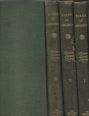 1923: BIRDS OF AMERICA 3 Volumes, 1st.Ed, 842p.,500+Color & B&W Plates&Photos(3)