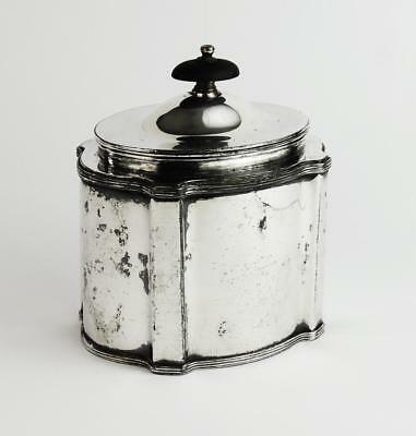 VICTORIAN Silver Plated TEA CADDY c1880