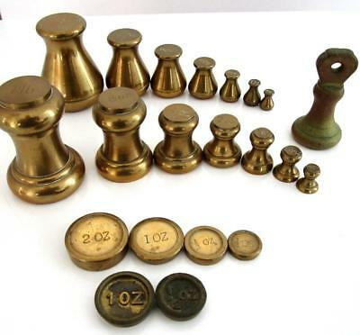 Vintage Brass Weights Imperial & Metric Kitchen Scales 2 Sets + Others