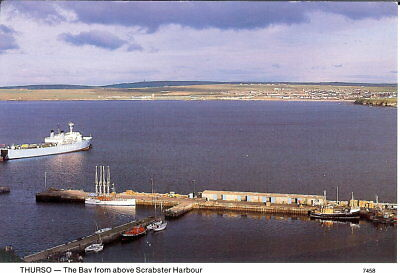 Scotland: Thurso - The Bay from above Scrabster Harbour - Posted 1994