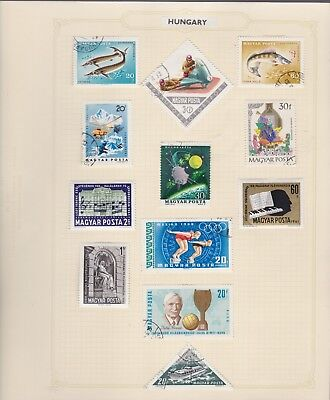 9 pages of Hungary stamps
