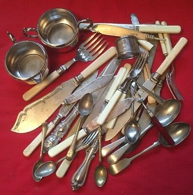 Job Lot Of Silver Plated Items, Some Sterling Silver - 2kg